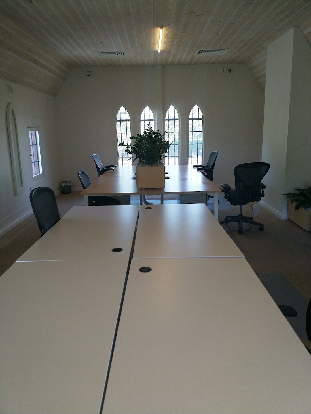 Upstairs chapel office